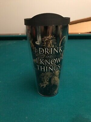 aca0fceaf54 Tervis HBO Game of Thrones House Lannister Insulated Travel Tumbler w Lid  16 oz