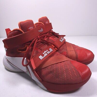 free shipping 5dc0a 7fe1a Nike Lebron James Soldier IX TB Red Basketball Sneakers  749498-601