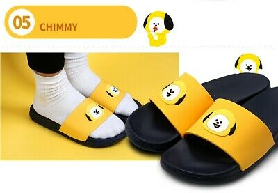 Official Kpop BTS BT21 Authentic Face Silicone Slippers For Women Kids