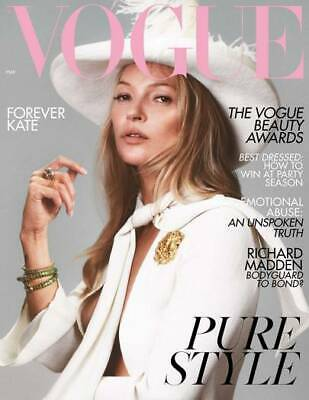 British Vogue Magazine May 2019: KATE MOSS COVER #1 Richard Madden LARA STONE