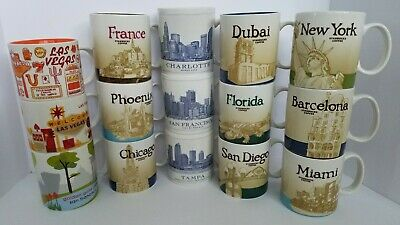 Variety Starbucks Collector Mugs ~ City State Country ~ You Choose