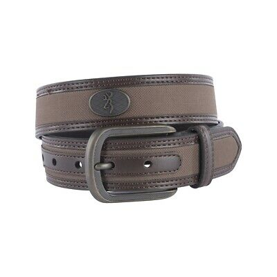 Browning Men's Leather Western Buck Ornament Belt - Brown - Size 38