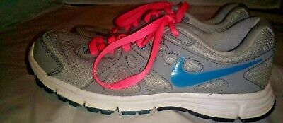 c8b397122a38a Nike Revolution 2 Women's Size 7.5 Running Shoes 554900-006 Gray Pink Blue