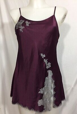 1787b5fc1170 New Victorias Secret Angels XS Satin And Lace Slip Chemise Nightgown Kir  Silver