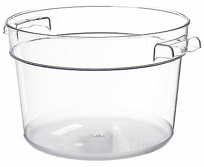 Thunder Group Polycarbonate Round Food Storage Container, 12-Quart, Clear