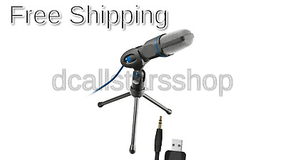 Trust Gaming 20378 Mico USB Microphone and Stand for PC and Laptop, USB Conne...