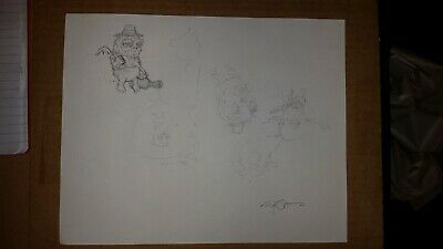 Signed Marq Spusta ORIGINAL SKETCHES DOUBLE-SIDED Concept Artwork Posters Prints