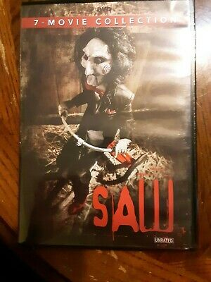 SAW THE MOVIE COLLECTION 1 2 3 4 5 6 7 SERIES (DVD Box Set) PRE-OWNED