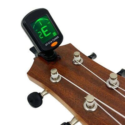 LCD Digital Chromatic Rotating Clip-On Electric Guitar Tuner Acoustic Parts Acc