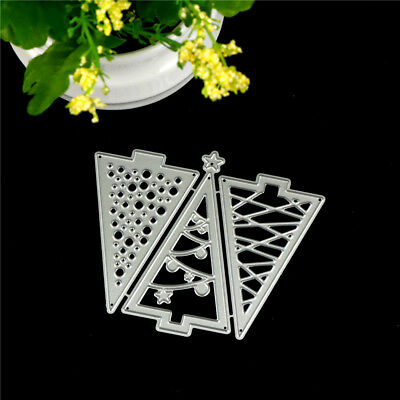 3XChristmas Tree Metal Cutting Dies For DIY Scrapbooking Album Paper Cards KY