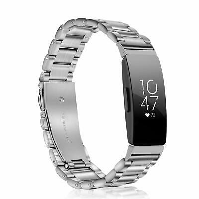 For Fitbit Inspire HR & Fitbit Inspire Bands Stainless Steel Replacement Strap