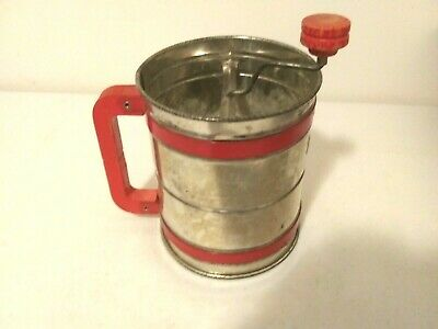Vintage Metal ANDROCK Flour Sifter Made in USA-Kitchen Baking Tool