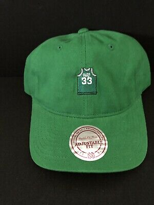 19c75894 Boston Celtics Mitchell & Ness Larry Bird NBA Strap back Dad Hat Logo HWC  Cap