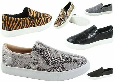 Soda Women's Animal Prints  Slip On Flat Round Toe Sneaker  Shoes Size 5.5 - 11