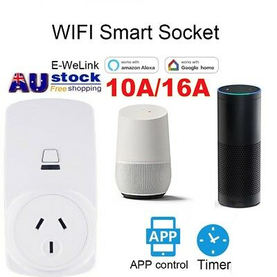 AU Wireless Wifi Smart Power AU Plug Socket Outlet Switch For ECHO ALEXA GOOGLE