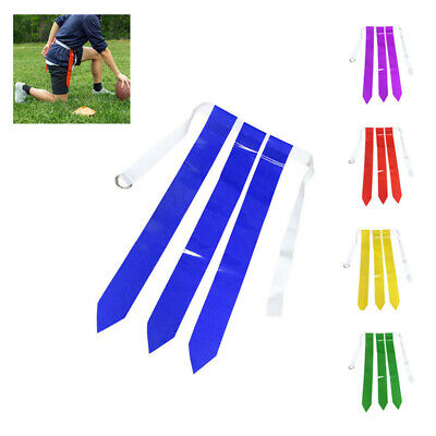works Red and Blue Football Flag Set - 1 Belts with 3 Flags