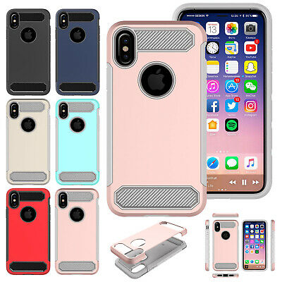 For iPhone XS Max XR X Case Hybrid TPU Heavy Duty Armor Shockproof Phone Cover