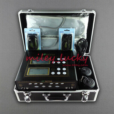 Dual Ionic Ion Detox Machine Cell Ionic Foot Bath SPA Cleanse CHI with 2 Arrays