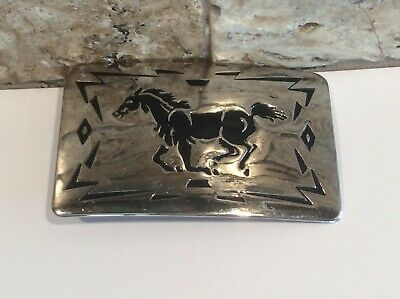 Vintage Chambers Belt Co. Running Stallion Belt Buckle - Made in U.S.A.