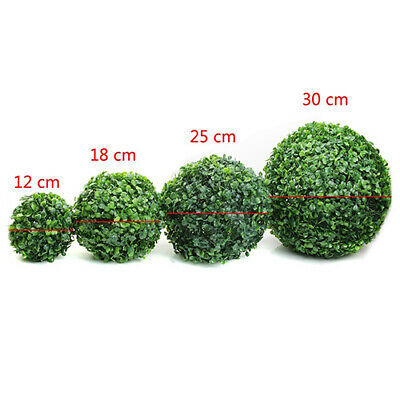 Outdoor Artificial Fake Green Plant Tree Ball Topiary Boxwood Bridal Party Decor