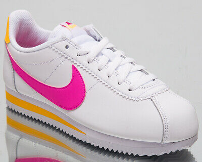 best sneakers d650d 06845 Nike Classic Cortez Leather Womens White Pink Casual Lifestyle Shoes  807471-112