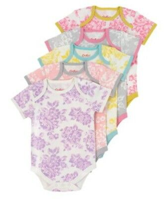 Cath Kidston Short Sleeved Body Suits Pack Of 5 6-12 Months