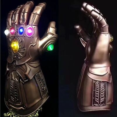 2019 Figure & LED Light Thanos Infinity Gauntlet Marvel Legends Gloves Avengers