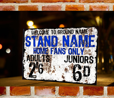 CREATE YOUR OWN! Retro Vintage Football Turnstile Metal Sign Any Club Any Ground