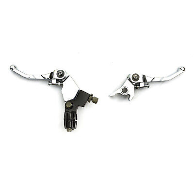 Pit Bike Alloy Fold Snap Back Chrome Brake Lever Clutch Set 110cc 125cc 140cc