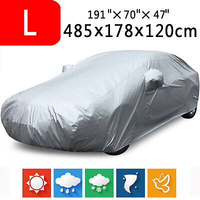 Large Full Car Cover Indoor Anti-Scratch Sun UV Dust Rain Resistant Protection