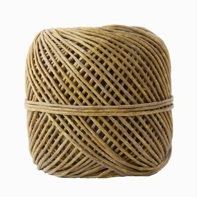 200 Feet Organic Hemp Wick Natural Candle Wick Beeswax Coating Natural Crafts