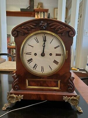 G. Hutchison English Mahogany Antique Bracket Clock 1835-1858.