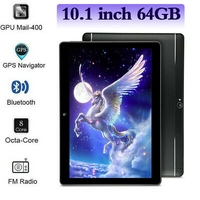 10.1 Android 7.0 Tablet PC 64GB Core 10 Inch HD WIFI 2 SIM 4G Phablet NEW USA