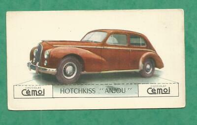 Image Chocolat Cemoi Auto Voiture Vintage Wagen Old Car Card Hotchkiss Anjou