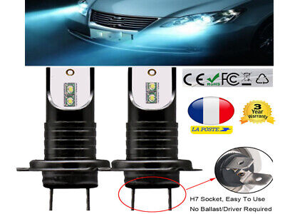 H7 LED Ampoule Voiture Feux Phare Lampe 110W Kit Remplacer HID Xénon 5000K Blanc