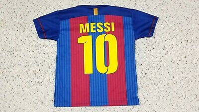 1637caf2e33 Lionel Messi #10 FCB Barcelona Qatar Soccer Football Jersey Youth Size 6  Child