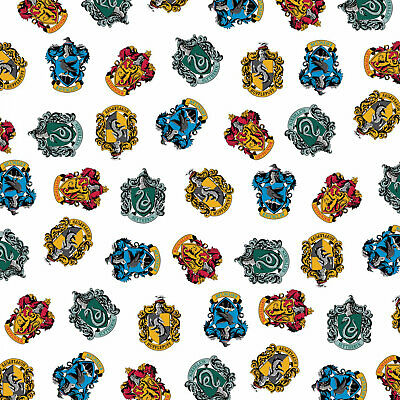Hogwarts School Houses - Harry Potter Cotton Fabric Material