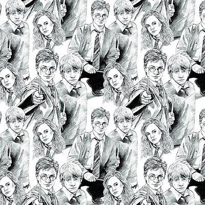 Characters - Harry Potter Cotton Fabric Material