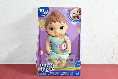 Hasbro- Baby Alive Baby Lil Sounds: Interactive Brown Hair Baby Doll