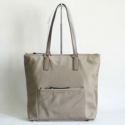 518735d0a0ba Nwt Michael Kors Ariana Large North South Nylon Tote Dusk Beige