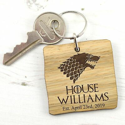 Personalised Game of Thrones Keyring - House Surname Sigil - Unique Gift Present