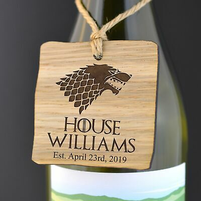 Personalised Game of Thrones Gift Tag - House Surname Sigil Unique Gift Present