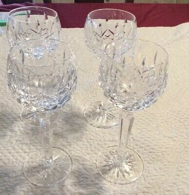 Waterford Crystal LISMORE Balloon Wine Glasses Set of FOUR