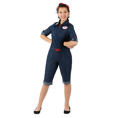 Girls Rosie the Riveter American Icon Costume