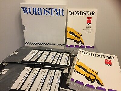 WORDSTAR 5.5 Complete Vintage Software & Manual Set Box