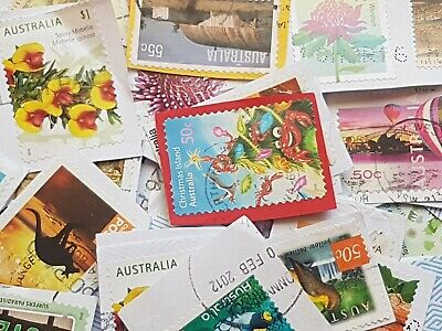1000 Used Australian High Value Only Kiloware Stamps Bulk Fast Post (50c-$1)