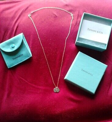 3c66c99fe Tiffany & Co. Sterling Silver Double Mini Heart Necklace w extender, box &  pouch