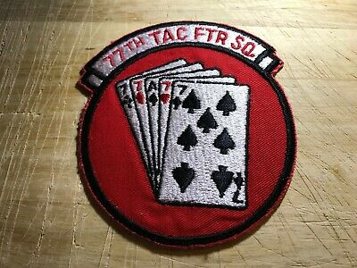 1950s/1960s? AIR FORCE PATCH-77th TACTICAL FIGHTER SQUADRON-ORIGINAL USAF!