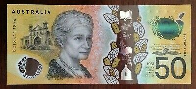 Australian $50 note brand new with spelling mistake (RARE)