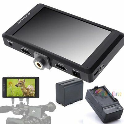 FEELWORLD FW450 4.5inch 4K HD 1280x800 HDMI Video Monitor + Battery For Camera